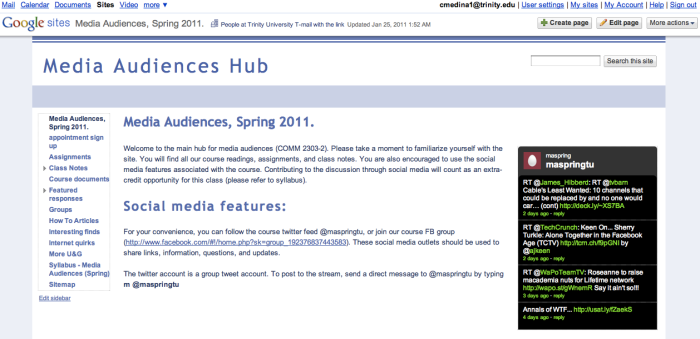The Media Audiences Site